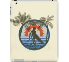 Life by the Beach - Surfing - Summer Sun and Palm Trees iPad Case/Skin