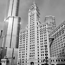 The old and the new - Chicago USA by Norman Repacholi