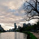 Sunset over the Yarra River - Melbourne Australia by Norman Repacholi