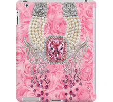 Barbie Pink Diamond Rose Pearls Print iPad Case/Skin