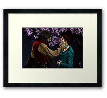 Rumpelstiltskin and Belle Framed Print