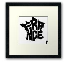 France Black Framed Print
