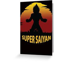 Super Saiyan Greeting Card