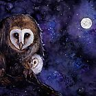 owls by arumise