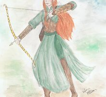 Watercolour Tauriel sketch - The Hobbit by Victoria  McMillan