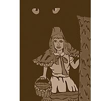 Little red riding hood vintage Photographic Print