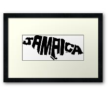 Jamaica Black Framed Print