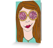 Rose Coloured Glasses Greeting Card