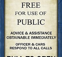 Free For Use Of Public - Tardis Door Sign, (please see description) by Ra12