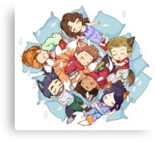 Sleepy Pack Canvas Print