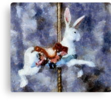 Childhood Dreams II: Where Are You Going In Such A Hurry? Canvas Print