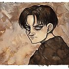 Attack On Titan - Levi Coffee Painting by arumise