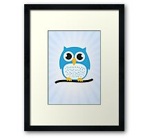 Sweet & cute owl Framed Print