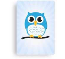 Sweet & cute owl Canvas Print