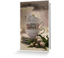 Tea Cups Still Life  Greeting Card