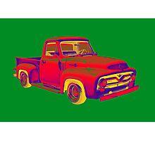 Classic 1955 F100 Ford Pickup Truck Pop Art Photographic Print