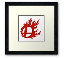 Red Smash Ball Framed Print