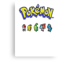 Pixelated Pokemon Canvas Print