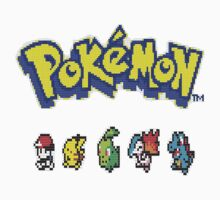 Pixelated Pokemon by ArabicTshirts