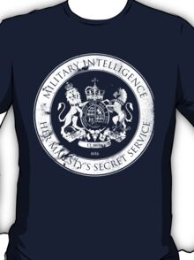 On her Majesty's secret service logo T-Shirt
