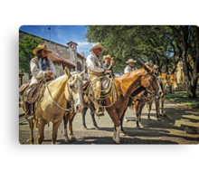 Ready for the Cattle Drive, Fort Worth Stockyards, Texas, USA Canvas Print