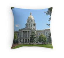 Colorado State Capitol Building, Denver Throw Pillow