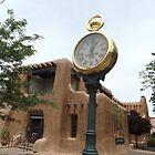 Classic Clock, Adobe Architecture, Santa Fe, New Mexico by lenspiro