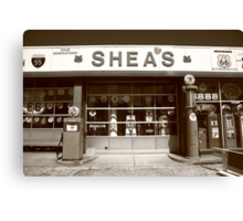 Route 66 - Shea's Filling Station Canvas Print