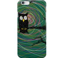 Daymare - Spooky creepy Halloween owl on branch spiral art tia knight  iPhone Case/Skin
