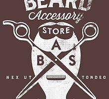 Beard Accessory Store logo - dark background by GraficBakeHouse