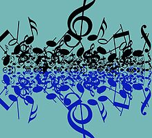 colorful music notes by AliLovesCats