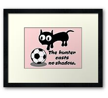 Cat Hunting a Ball Framed Print