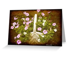Once There Were Petunias Here Greeting Card