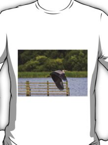 Grey Heron in flight T-Shirt