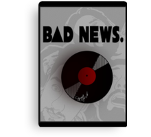 Bastille: B∆D NEWS. Canvas Print