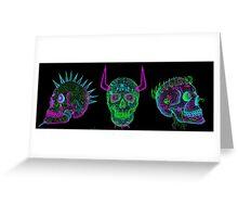skulls of hate V Greeting Card