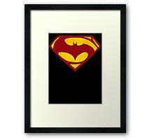 Batman Vs Superman : Dawn of Justice(Superman Color) Framed Print