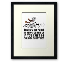 Moomin Who Framed Print