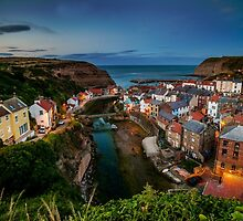 Dusk at Staithes by Dave Hudspeth