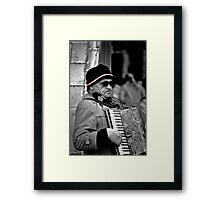 Street musician Framed Print