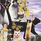 Cute Cat Collage 4 by kewzoo