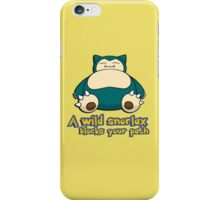 A wild snorlax is blocking your path! iPhone Case/Skin