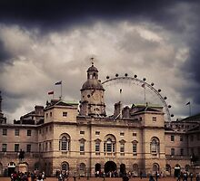London Eye and Horseguards Parade by ask2006