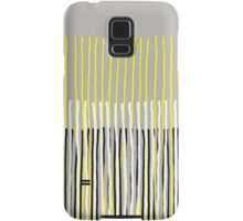 Yellow Rising - Abstract Stripes in Yellow, Grey, Black & White Samsung Galaxy Case/Skin