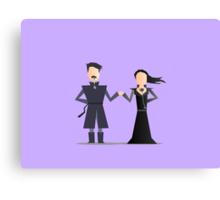 #4 Sansa and Littlefinger Canvas Print
