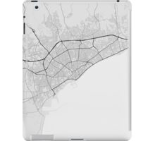 Limassol, Cyprus Map. (Black on white) iPad Case/Skin