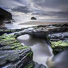 Cornwall- Trebarwith Strand by Angie Latham