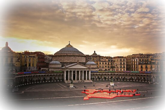 "Naples, Piazza del Plebiscito with ""Europe"" (2) by Rachel Veser"