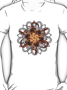Energetic Geometry - Fire Spinner Bloom  T-Shirt