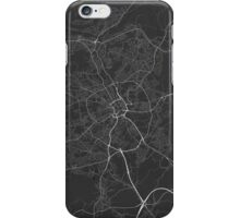 Bradford, England Map. (White on black) iPhone Case/Skin